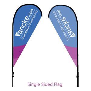 Single sided teardrrop flag