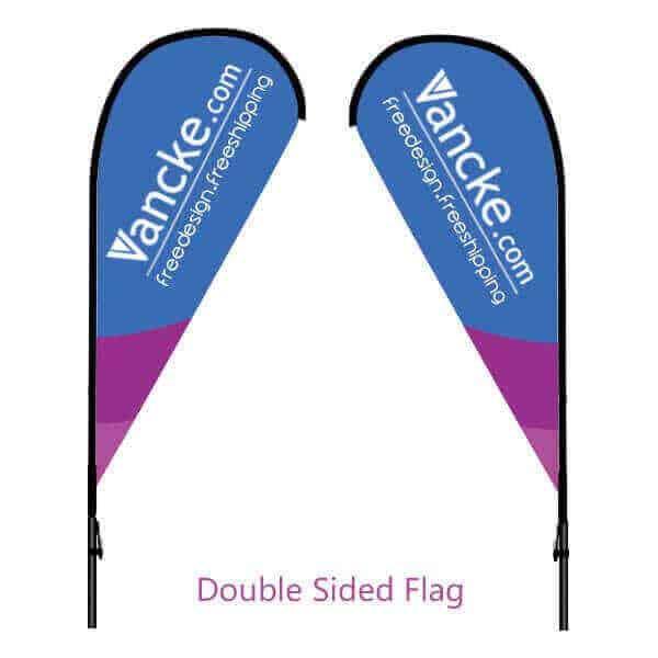 double sided teardrrop flag