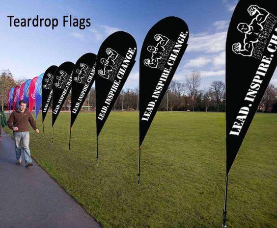 teardrop flags