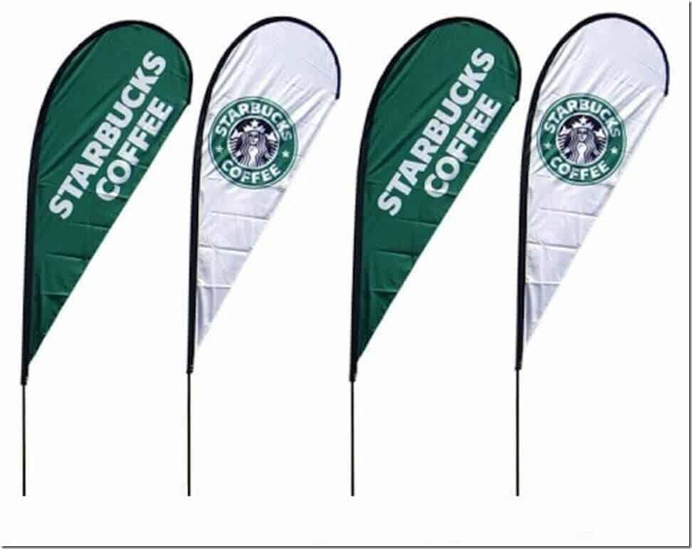 A teardrop flag can help market your coffee shop - Learn how! (12)