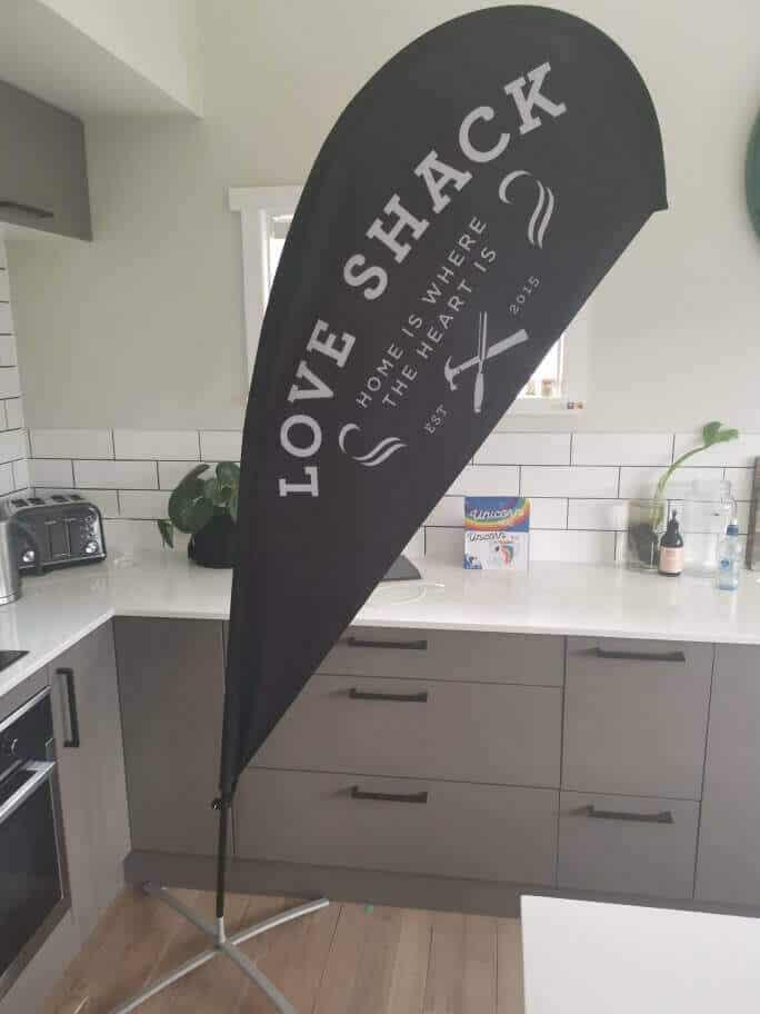 custom teardrop banner mockup teardrop flag